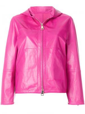 Куртка на молнии с капюшоном Sylvie Schimmel. Цвет: розовый