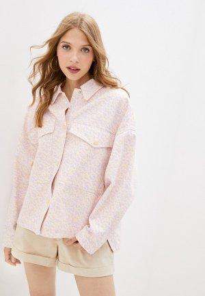 Куртка джинсовая Pimkie. Цвет: розовый
