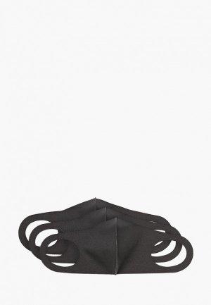 Маски для лица защитные 3 шт Hatparad. Цвет: черный