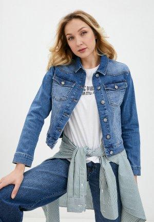 Куртка джинсовая Bochetti. Цвет: голубой