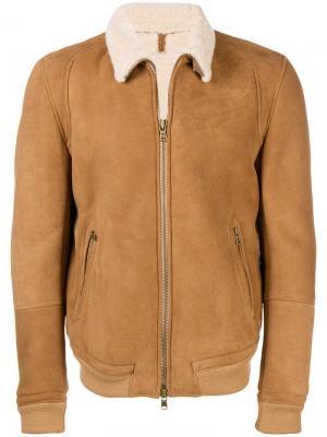 Куртка с подкладкой из овечьей шерсти Mauro Grifoni. Цвет: коричневый
