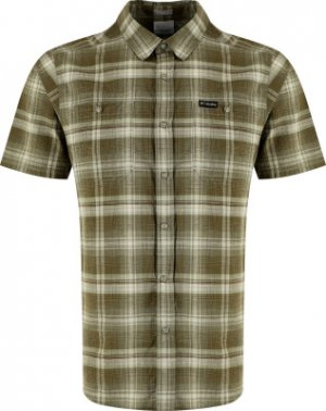 Рубашка с коротким рукавом мужская Leadville Ridge™ II, размер 56 Columbia. Цвет: зеленый
