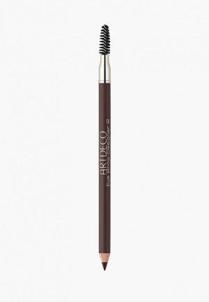 Карандаш для бровей Artdeco с щеточкой Eye Brow Designer, тон 2, 0.8 г. Цвет: коричневый
