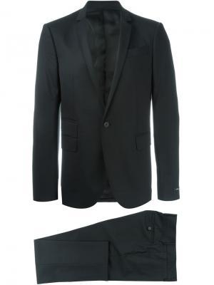 Классический костюм-двойка Les Hommes. Цвет: чёрный