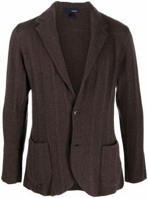 Однобортный пиджак Lardini. Цвет: коричневый
