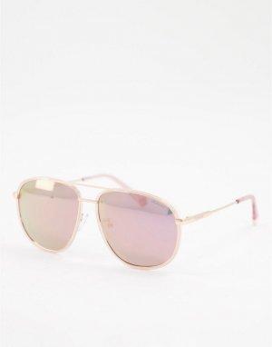 Солнцезащитные очки-авиаторы -Розовый цвет Polaroid