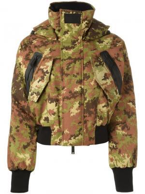 Лыжная куртка-бомбер Dsquared2. Цвет: зелёный