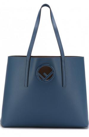 Сумка-шоппер Kan I Fendi. Цвет: синий