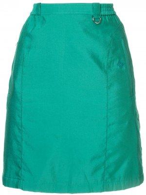 Юбка мини прямого кроя Christian Dior. Цвет: зеленый