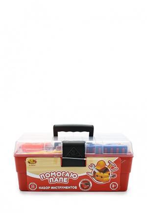 Набор игровой Abtoys инструментов в чемодане Помогаю Папе. Цвет: разноцветный
