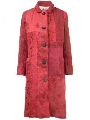 Пальто Kashmiri Antique с вышивкой By Walid. Цвет: красный