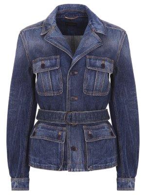 Куртка-пиджак джинсовая SAINT LAURENT