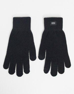 Черные перчатки -Черный Jack & Jones