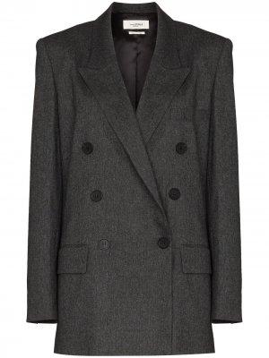 Noleagan double-breasted blazer jacket Isabel Marant Étoile. Цвет: серый