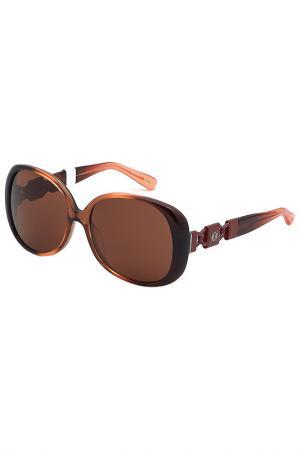 Очки солнцезащитные Loewe. Цвет: мультицвет, розовый
