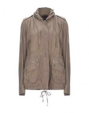 Легкое пальто HENRY COTTON'S. Цвет: хаки