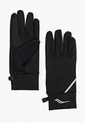 Перчатки беговые Saucony FORTIFY LINER GLOVES. Цвет: черный
