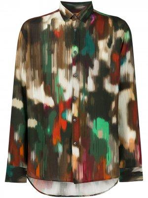 Рубашка с абстрактным принтом Grey Daniele Alessandrini. Цвет: красный