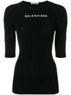 Спортивный топ Balenciaga. Цвет: черный