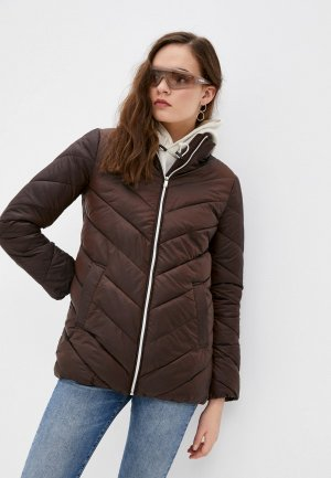 Куртка утепленная Снежная Королева JSS1OC07. Цвет: коричневый