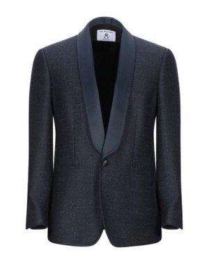 Пиджак ALL APOLOGIES. Цвет: темно-синий