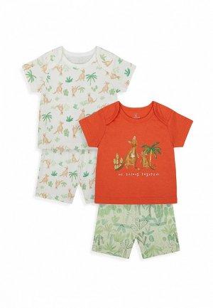 Пижамы 2 шт. Mothercare. Цвет: разноцветный