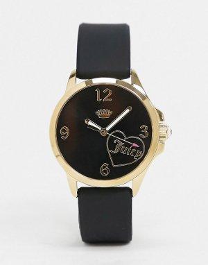 Часы с логотипом -Черный Juicy Couture