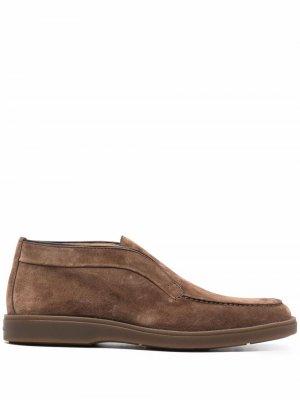 Ботинки дезерты Santoni. Цвет: коричневый