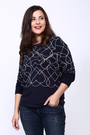 Пуловер Rabe collection. Цвет: синий