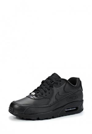 Кроссовки Nike Mens Air Max 90 Leather Shoe. Цвет: черный