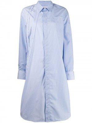 Платье-рубашка Dexter в полоску A.F.Vandevorst. Цвет: синий