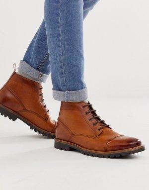 Светло-коричневые ботинки со вставкой на носке Rafferty-Светло-коричневый Base London