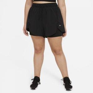 Женские шорты для тренинга 2 в 1 Flex Essential (большие размеры) - Черный Nike