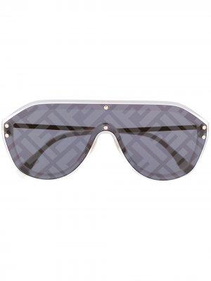 Солнцезащитные очки с монограммой Fendi Eyewear. Цвет: серый