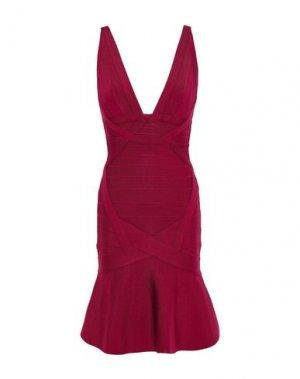 Короткое платье HERVÉ LÉGER. Цвет: пурпурный