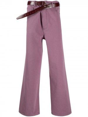 Широкие джинсы Magliano. Цвет: фиолетовый