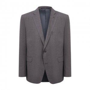Шерстяной пиджак Eduard Dressler. Цвет: бордовый