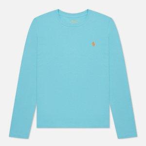 Женский лонгслив Crew Neck 30/1 Cotton Jersey Polo Ralph Lauren. Цвет: голубой