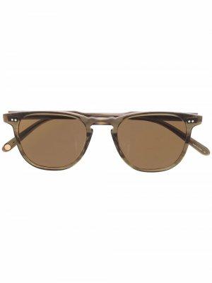 Солнцезащитные очки Brooks в квадратной оправе Garrett Leight. Цвет: коричневый