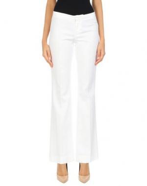 Повседневные брюки PT01. Цвет: белый