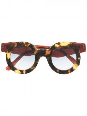 Солнцезащитные очки Kate Havana KYme. Цвет: коричневый
