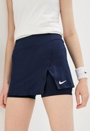 Юбка-шорты Nike W NKCT DF VCTRY SKIRT STR. Цвет: синий