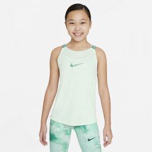 Майка для тренинга девочек школьного возраста Dri-FIT Elastika - Зеленый Nike