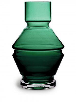 Стеклянная ваза Relæ (26 см) Raawi. Цвет: зеленый