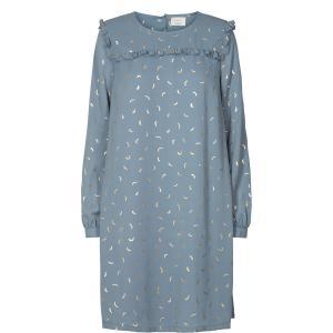 Платье с рисунком и воланами NUMPH. Цвет: наб. рисунок синий