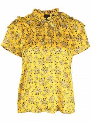 Floral jacquard blouse Pinko. Цвет: желтый