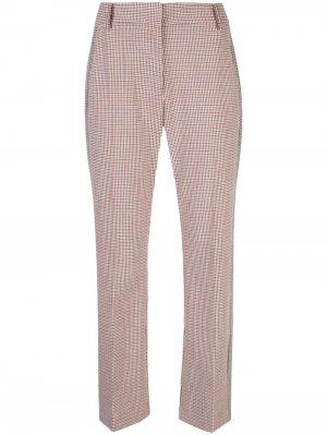 Укороченные расклешенные брюки с полосками по бокам Derek Lam 10 Crosby. Цвет: оранжевый