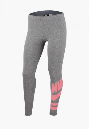 Леггинсы Nike G NSW LGGNG FAVORITE GX3. Цвет: серый
