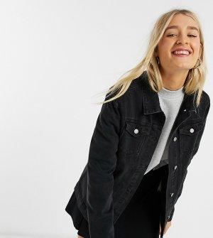Черная длинная джинсовая куртка -Черный Brave Soul Tall