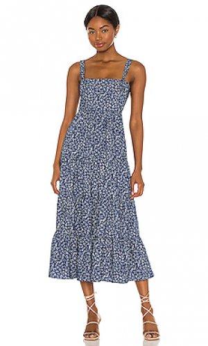 Платье миди kimber LIKELY. Цвет: синий